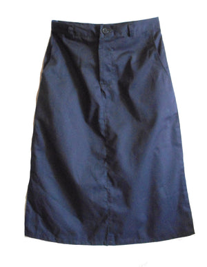 Navy twill skirt