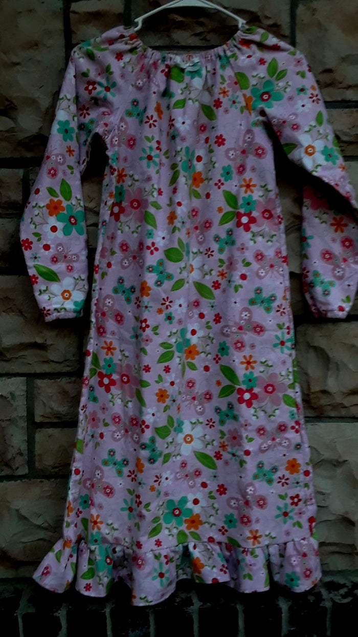 Girls Flannel Gown