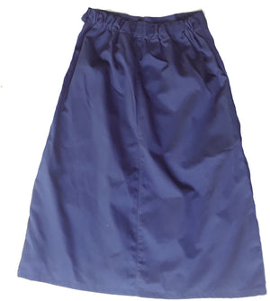 "A-line skirt with back elastic side zipper-Navy twill size Medium 30"" length"