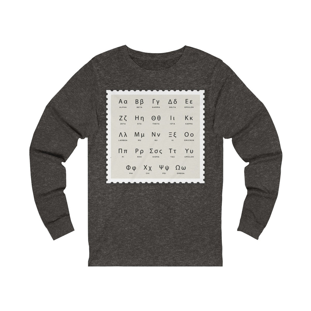 Long Sleeve Tee Greek Alphabet