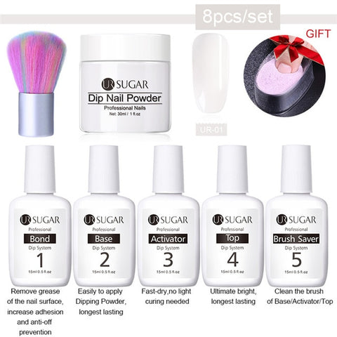 UR SUGAR 8pc & 6pc Set Dipping Nail Kit