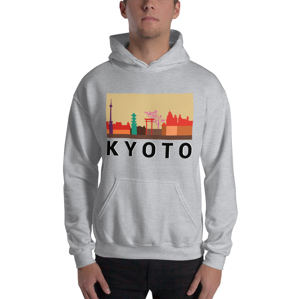 Kyoto City Color Hooded Sweatshirt
