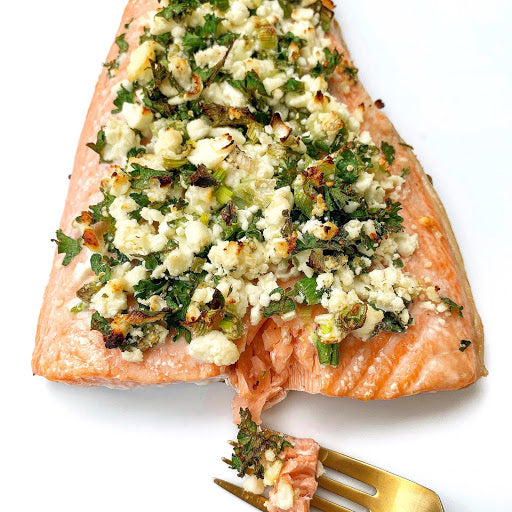 Herb Feta Crusted Salmon