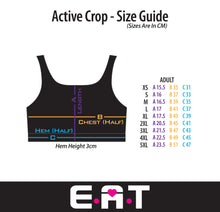 Geometric Active & Swim Crop (Sizes: XS - XXXL)