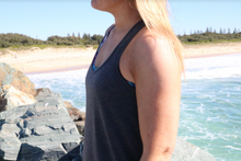 Dark Grey Flow Tank - Breastfeeding / Nursing Tank