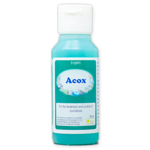 Acox For Birds To Treat Coccidiosis Also Known As Going Light 50ml size