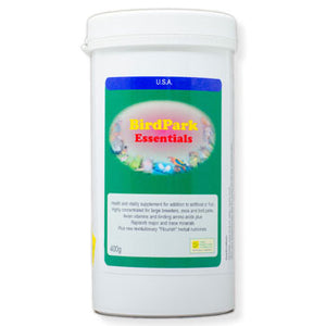 BirdPark Essentials  Super concentrated Vitamins for large breeders, Zoos and Bird parks 400g size