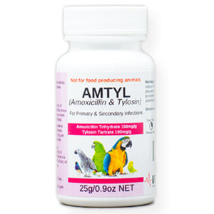 Amtyl for Birds a very broad spectrum antibiotic 25 gram size