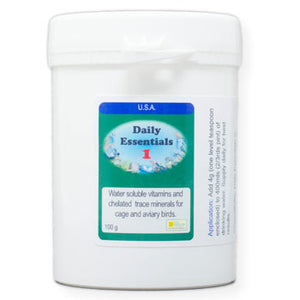 Daily Essentials 1 Daily Vitamins for Birds that you put in their drinking water 100 gram size