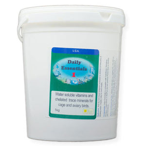 Daily Essentials 1 Daily Vitamins for Birds that you put in their drinking water 1 Kilogram size