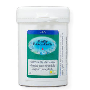 Daily Essentials 1 Daily Vitamins for Birds that you put in their drinking water 50 gram size