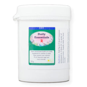 Daily Essentials 2 daily vitamins super concentrated for large numbers of birds 100 gram size