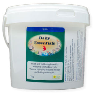 Daily Essentials 3 daily vitamins for Birds 1 kilogram size
