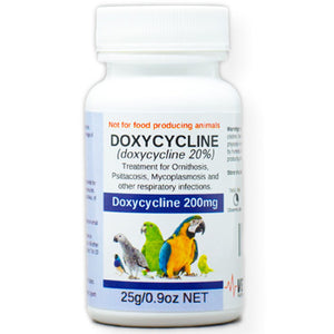 Doxycycline for Birds 20% for Bacterial infections 25 gram size