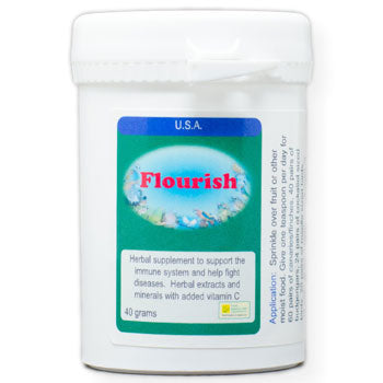 Flourish for Birds an herbal supplement to support the immune system 40 gram size