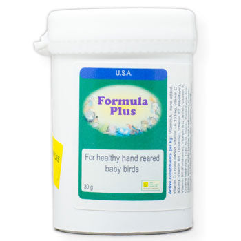 Formula Plus for baby Birds to supplement their hand-feeding formula 30 gram size