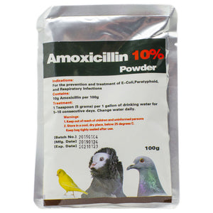 Amoxicillin 10% powder for birds