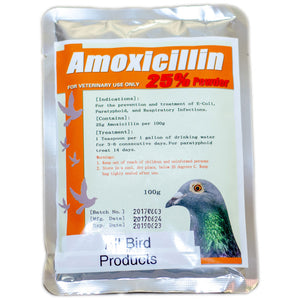 Amoxicillin 25% powder for birds