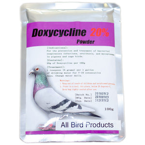 Doxycycline 20% water soluble Powder generic for birds 100g