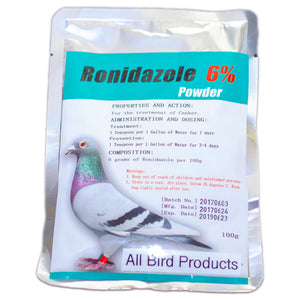 Ronidazole 6% Generic for birds