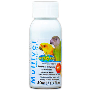 Multivet liquid vitamins for birds 50ml