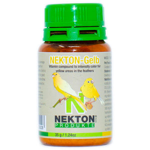 Prevent colours from fading or heighten yellow shades of plumage by adding NEKTON-GELB.
