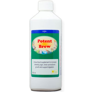 Potent Brew for Birds  Live liquid probiotic 500ml size