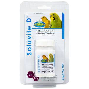 Soluvite D for birds with limited exposure to sunlight 25g