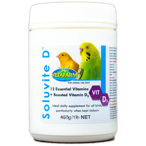 Soluvite D for birds with limited exposure to sunlight 450g