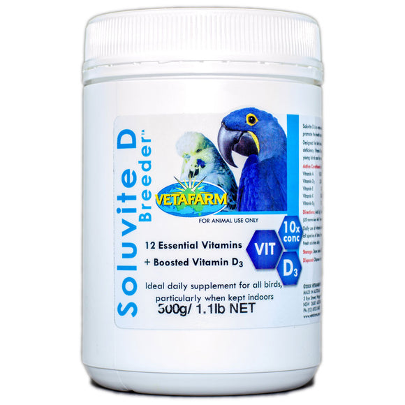 Soluvite D Breeder for Bird limited to sunlight 500g