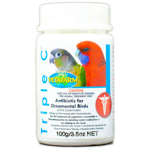Triple C water soluble antibiotic for birds 100g