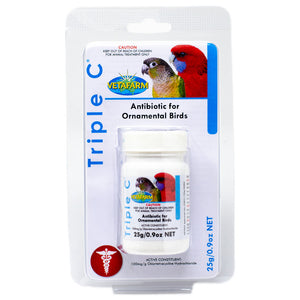Triple C water soluble antibiotic for birds 25g