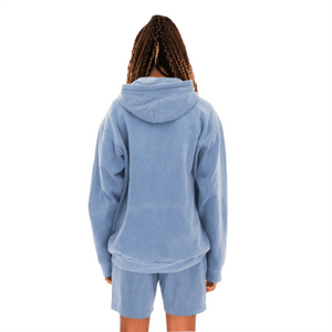Back of Women's Egg Pouch Hoodie