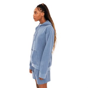 Angle of Egg Pouch Hoodie