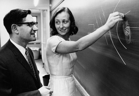 Dr. Morawetz with her N.Y.U. colleague Harold Grad in 1964.