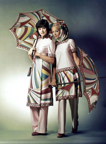 Braniff International Airline hostesses in 1971.