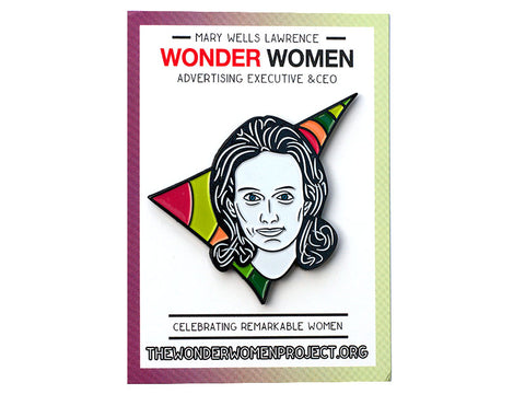 Mary Wells Lawrence Enamel Pin