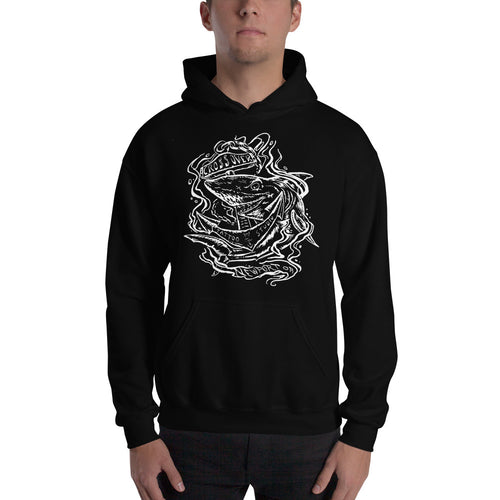 Cross Over Tattoo Sharks Below Newport Oregon Hoodie
