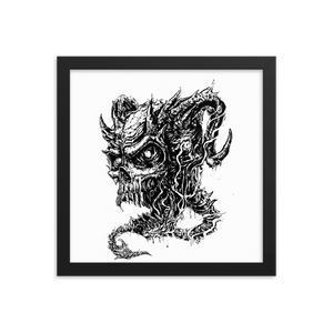 Demon Skull Framed poster