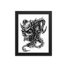 Load image into Gallery viewer, Demon Skull Framed poster
