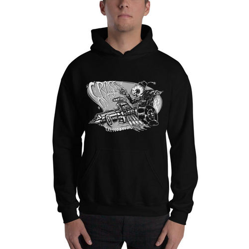 Cross Over Tattoo One Sick Ink Gun Racer Hoodie