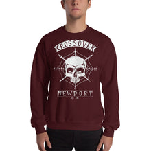 Load image into Gallery viewer, Cross Over Tattoo Skull and Bones Sweatshirt