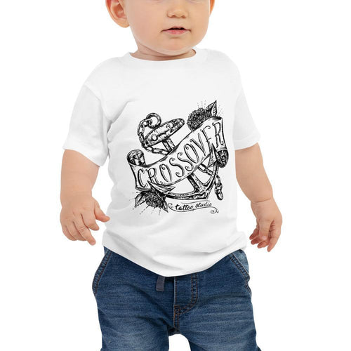 Cross Over Banner on Anchor Baby Jersey Short Sleeve Tee
