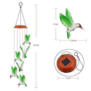 LED Solar Powered Hummingbird Chime - HUMAN