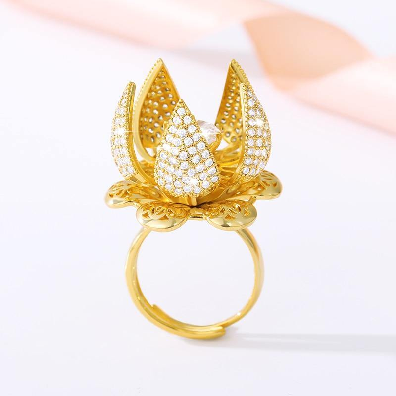 Flocaw Adjustable Flower Blooming Ring - HUMAN
