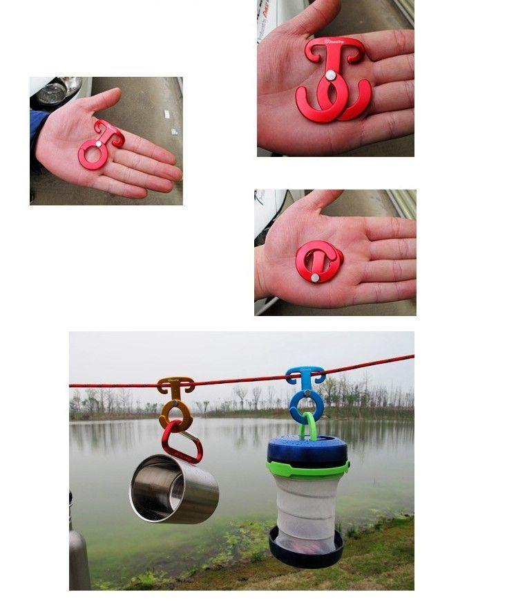 Aluminum Rope Hanger Multifunction Outdoor Camping - HUMAN
