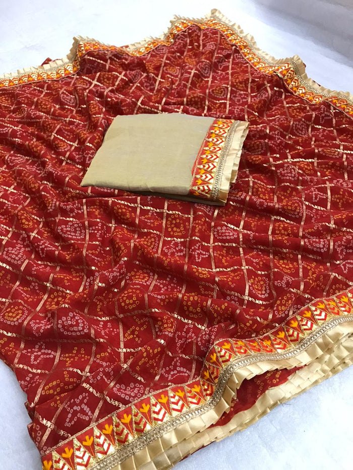 ADORBLE BUAUTIFUL BANDHANI SAREE