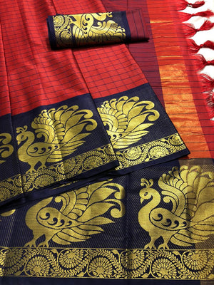 ADORBLE BEAUTIFUL COTTON SILK SAREE