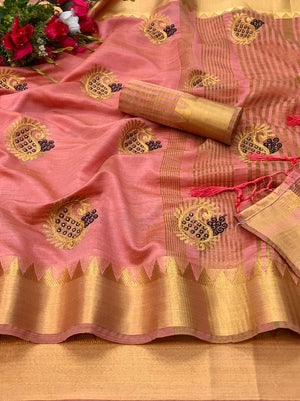 Assam silk weaving border with embroidered work