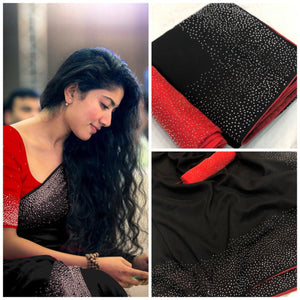 ADORABLE BLACK SANA SILK SAREE